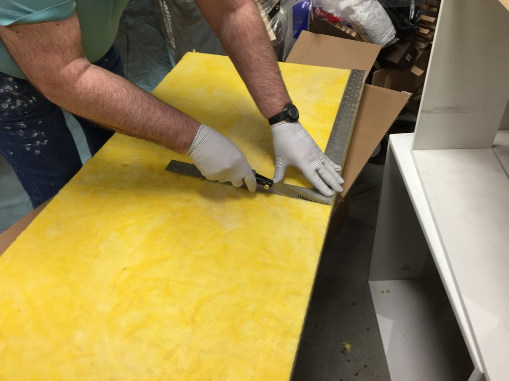 Cutting a fiberglass panel in half