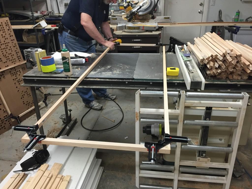 6' x 2' poplar frame clamped