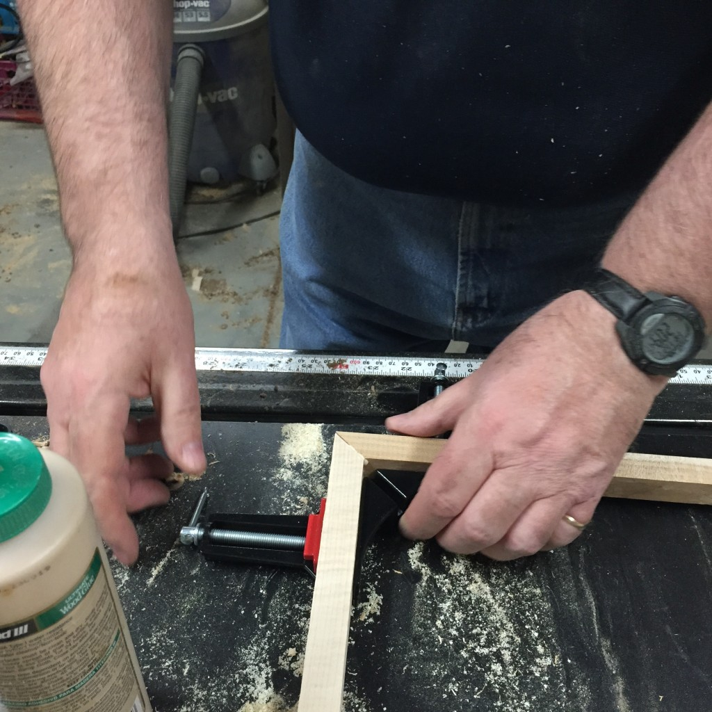 Clamping a poplar joint