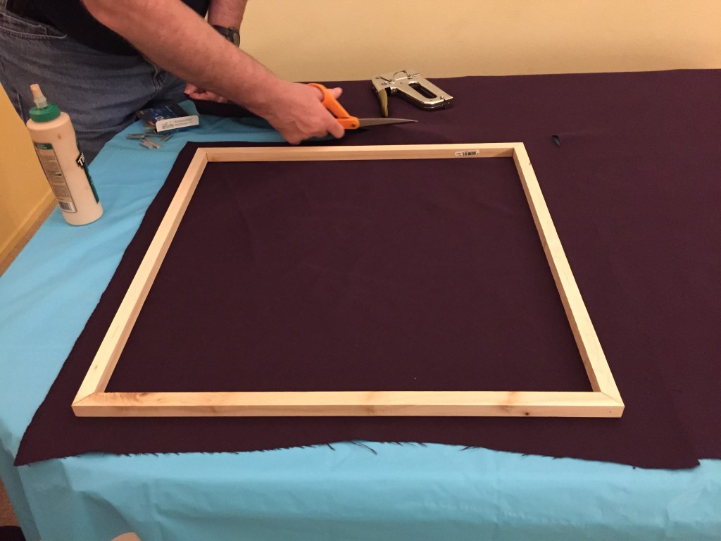 Cutting fabric to size