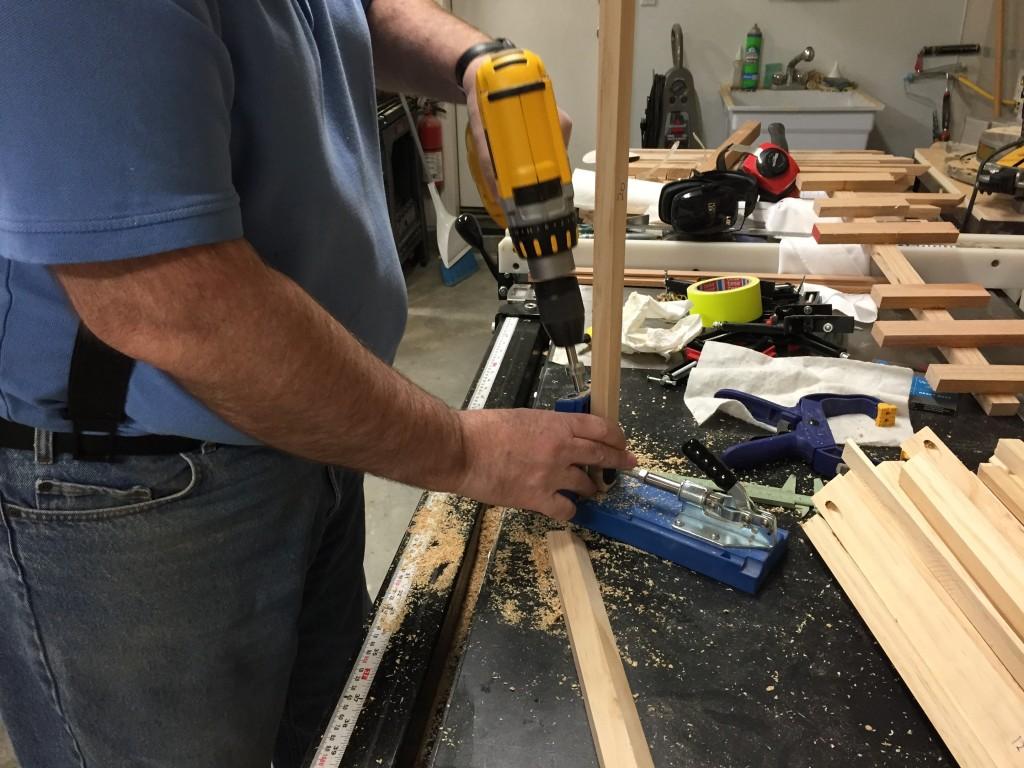 Drilling for pocket screws