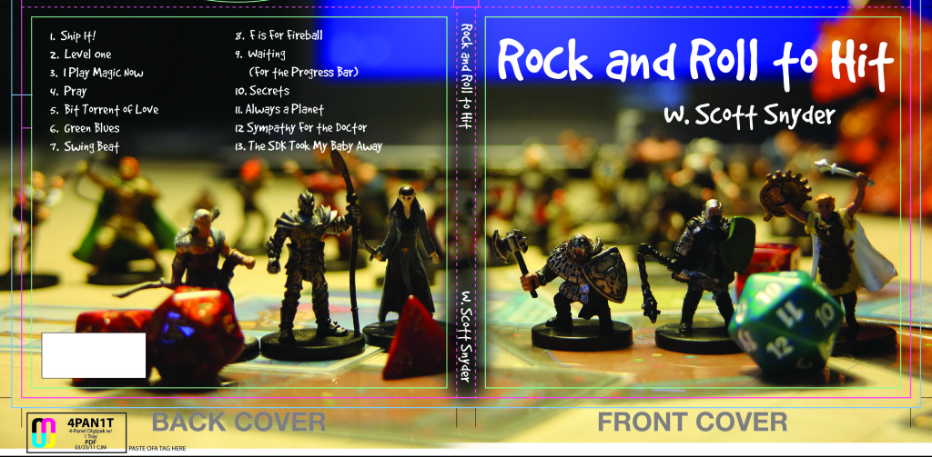 Mock up of the cover for Rock & Roll to Hit, designed by Beckett Gladney